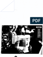 Pfaff 294-1 to 297-1 User Manual