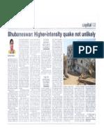Earthquake in Bhubaneswar