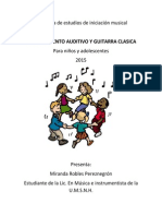 Programa de Estudios de Iniciación Musical