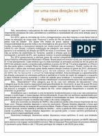 Manifesto por uma nova direção sindical no SEPE - Regional V