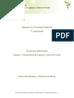 Unidad 3. Transformada de La Laplace y Series de Fourier