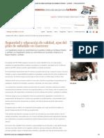18-05-15 Seguridad y educación de calidad, ejes del plan de astudillo en Guerrero __ La Razón __ 24 de mayo de 2015