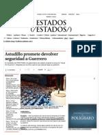 17-05-15 Astudillo Promete Devolver Seguridad a Guerrero - Grupo Milenio