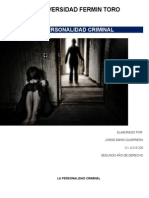 La Personalidad Criminal