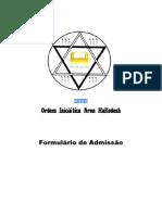 Formulario Admissão