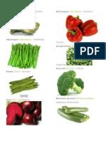 Verduras en Ingles