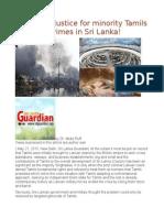 Genocide Justice for Minority Tamils Over War Crimes in Sri Lanka!