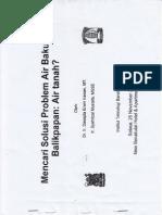 Solusi Problem Air Baku Balikpapan - Part 1