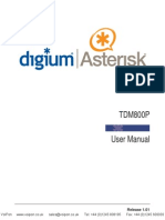 Digium Tdm800p Users Manual
