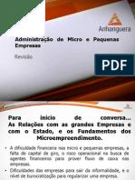 VA Administracao Micro Pequenas Empresas Aula 03 Revisao