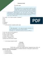 AVALIAÇÃO PORTUGUÊS 1 ANO - Interpretação Textual