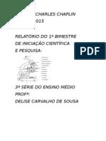 Relatório Do PROEMI 3ª Série