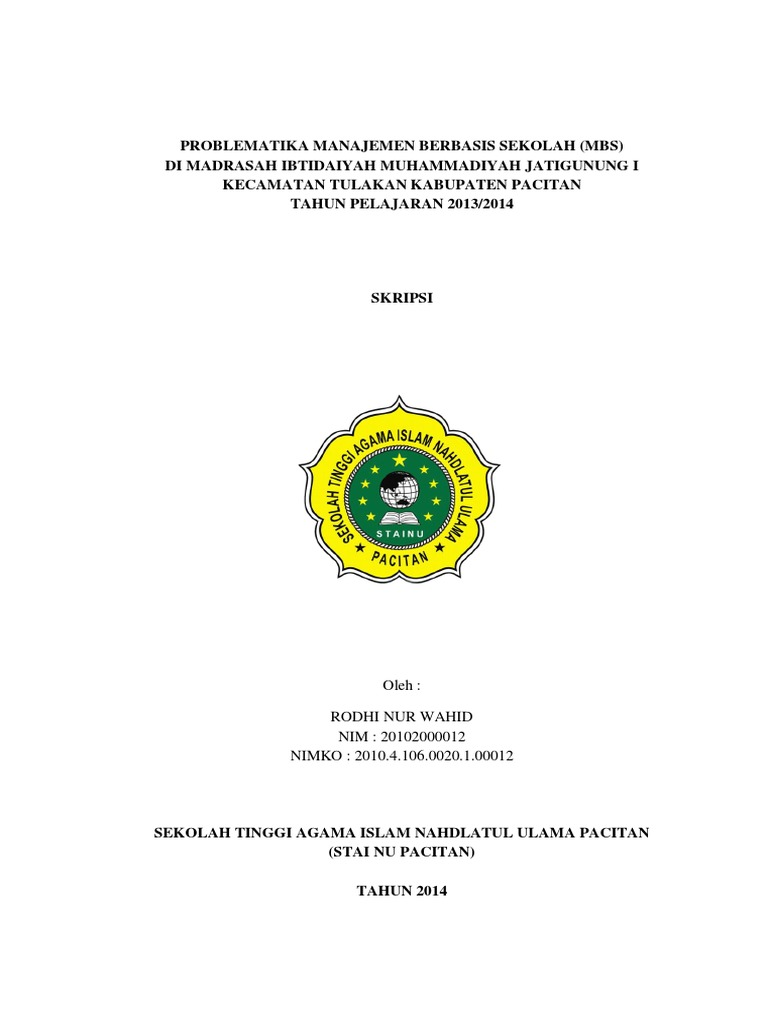 Judul Skripsi Manajemen Pendidikan Islam Kuantitatif Pdf Ide Judul Skripsi Universitas