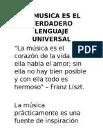 La Musica Es El Verdadero Lenguaje Universal