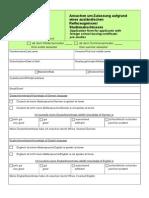 Application Form BSc MSc