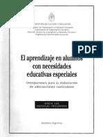 El Aprendizaje en Alumnos Con Necidades Educativas Especiales