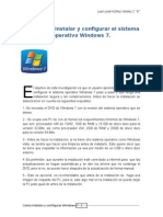 Pasos de Instalación de Windows 7