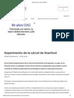 Experimento de La Cárcel de Stanford