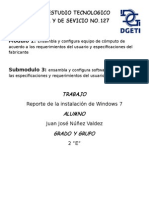 Reporte de instalación de windows 7