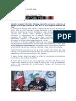 Biografía de Javier Pulgar Vidal - Historia del Perú