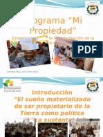 Presentación del Concejal Juan Carlos Vidal. Sucre de Propietarios