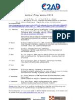 Seminar Programme 2010