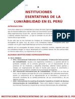 Instituciones Representativas de La Contabilidad en El Perú Oficial d