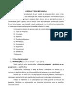 Modelo Proj de Pesquisa - PosGraduacao EST