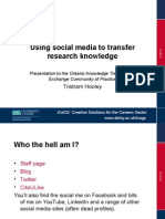 Using social media to transfer research knowledge