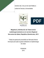 2013_BHenriquez_Magnitud y distribución de TB MDR en el servicio regional Norcentral de salud RD 2013