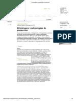 El Hidrógeno_ Metodologías de Producción