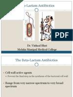 Introduction to Beta Lactam Antibiotics