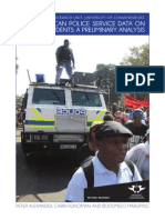 South African Police Service Data on Crowd Incidents Report