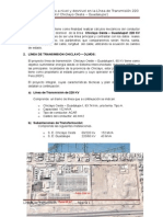 Cálculos Mecánicos a Nivel y Desnivel en La Línea de Transmisión 220 KV Chiclayo Oeste