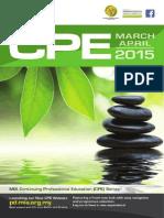 CPE March & April