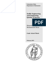 Traffic Engineering and Supporting Quality of service