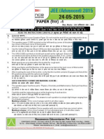 Jee Advanced 2015 Paper 1 Solution v2