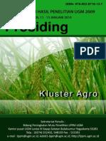 Prosiding Seminar Hasil Penelitian Ugm (Kluster Agro)