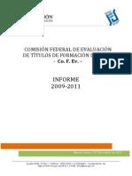 COFEV Informe 2009 2011