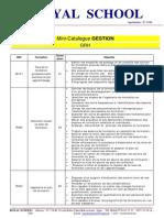 GRH Mini-Catalogue