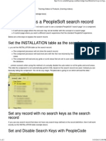 How to Bypass a PeopleSoft Search Record