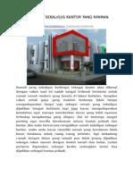 Desain Rumah Sekaligus Kantor Yang Nyaman Dan Elegan