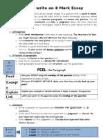 how to write an 8 mark essay