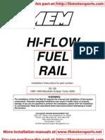 Hi-Flow Fuel Rail-Installation Instructions 25-130