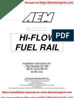 AEM Hi-Flow Fuel Rail_Installation Instructions 25-108