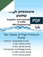 Dealer and Supplier of High Pressure Pump