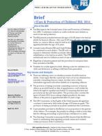 Legislative Brief Juvenile Justice Bill
