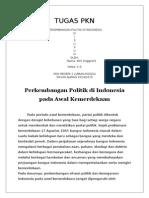 Perkembangan Politik Di Indonesia Pada Awal