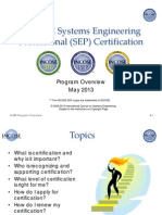 INCOSE Systems Engineering Professional (SEP) Certification
