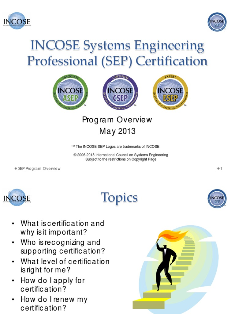 Incose Systems Engineering Professional Sep Certification